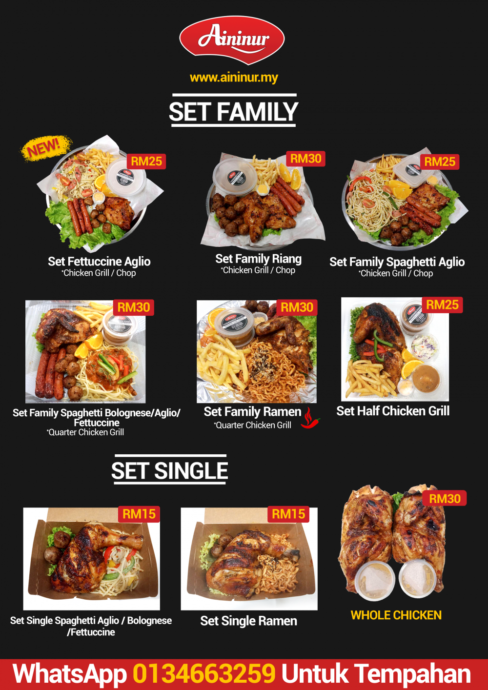 MENU SET FAMILY & SINGLE
