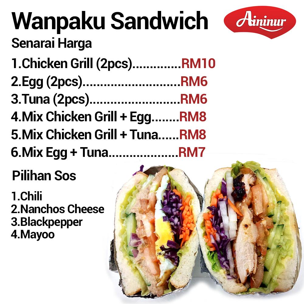 Senarai harga wanpaku Sandwich